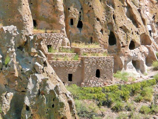 Ancient Dwellings in Bandelier National Monument